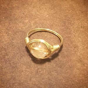 Jewelry - Handmade Citrine Stone Wire Wrapped Ring